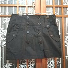 古著風 雙排釦 一片裙 短裙 M~L適穿
