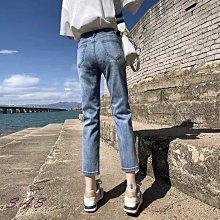 SAS 韓版高腰窄版牛仔褲 復古寬鬆直筒高腰牛仔褲 寬褲 褲子 長褲 休閒褲 女裝 工裝褲 女裝 黑褲【1343J】