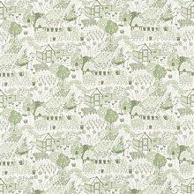 【Uluru】英國期貨窗簾布藝 美式鄉村 THE ALLOTMENT (2色) 植物 訂製窗簾 捲簾 羅馬簾