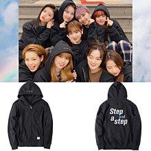 NiziU出道專輯Step And A Step周邊同款應援拉鍊外套連帽衛衣服