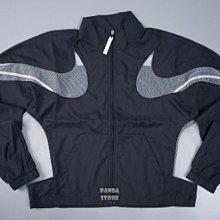 nike jacket 短版 透視 網布 風衣 防風 外套 cz8285-010 黑 女
