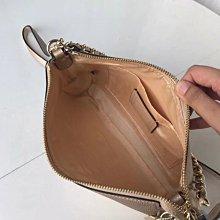 空姐精品代購 COACH 22212 新款女士荔枝紋牛皮時尚斜挎包 編織鏈條可手提 附長背帶 簡約大方 附代購憑證