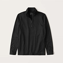 【Abercrombie&Fitch】【零碼XS】AF男款長袖T恤內刷毛拉鍊黑 F02210425-11