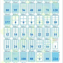 訂製品-銅版紙標籤貼紙(亮面白色010/2*5)X1箱(10包=1000A4)-自黏標籤貼紙電腦標籤自粘雷射專用業務事務