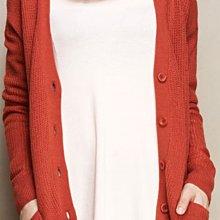 (((最後出清!!))) 二手 ~ lativ 橘色 落肩 寬版 針織外套 (L)