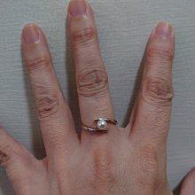 白金鑲天然珍珠(造型特殊)