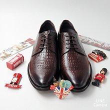 ♂️男:經典*時尚鱷魚紋手工型男紳士皮鞋、鱷魚紋牛皮紳士鞋、經典手工皮鞋、咖啡色型男皮鞋、職男皮鞋、手工氣墊皮鞋