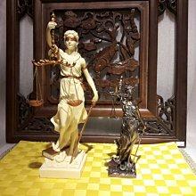 [ 居家藝術-希臘羅馬神話系列-正義女神 雕像 擺飾 ]-32cm /20cm-仿銅雕/仿雪花石雕 法律女神 司法女神