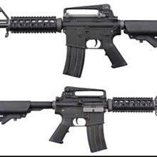 (武莊)魚骨版 WE M4 CQB全金屬單連發電動槍-WEA001CQB