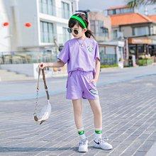 小圖藤童裝~~~中大童~~~女童套装夏装2021新款短袖童装夏季套裝(A3657)