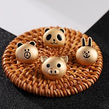 熱銷款金色小熊胸針可愛日系徽章ins潮個性可愛立體動物頭像扣針飾品女