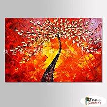 【放畫藝術】裝飾花卉B118 純手繪 橫幅 紅底 暖色系 精選 油畫 無框畫 民宿 餐廳 裝潢 室內設計