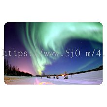 〈亮晶細沙 卡貼 貼紙〉極光 北極 Aurora 貼紙 悠遊卡貼紙