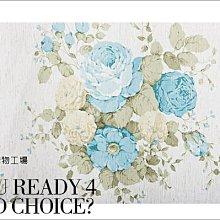 KIPO-歐美鄉村風 維多莉亞風 藍色花團錦簇  窗紗 窗簾訂做 NCD034002B