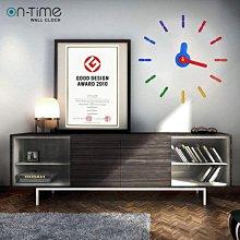 【鐘點站】On Time Wall Clock 金色-壁貼鐘-掛鐘.無損牆面.親子DIY.居家佈置.民宿餐廳