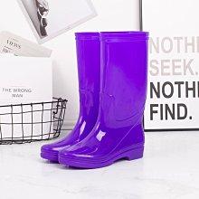 雨鞋女高筒無網布防水鞋加棉絨膠鞋水靴女式廚房無里布廚房套鞋