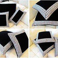 【芮洛蔓 La Romance】 臻品系列貴族手工絲絨釘鑽腰枕 (小) / 靠枕 / 床枕