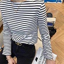 【妖妖代購】Celine 21春夏新款復古經典條紋T恤