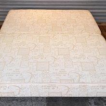 二手家具樂居 台中全新中古傢俱 B0423BC 五尺床架 床底 床板*2手臥室家具拍賣 床組 衣櫥 斗櫃