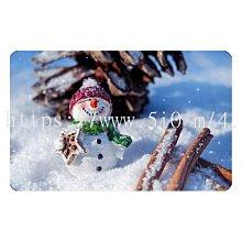 〈亮晶細沙 卡貼 貼紙〉聖誕節 雪人 snowman  貼紙 悠遊卡貼紙