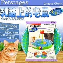 【🐱🐶培菓寵物48H出貨🐰🐹】美國Petstages》736乳酪上的老鼠軌道球-無需組裝 特價650元