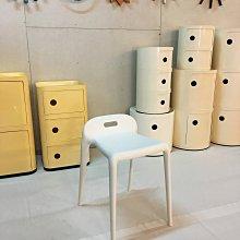 【挑椅子】極簡風格 YU YU Stool 素面無扶手靠背單椅/塑膠餐椅/可堆疊。(復刻版)。506