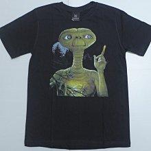 【Mr.17】 E.T. 外星人 小男孩 經典科幻電影 進口T-SHIRT短袖 黑色T恤 (KR040)