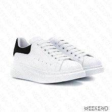 【WEEKEND】 ALEXANDER MCQUEEN 皮革 麂皮 厚底 麥昆鞋 休閒鞋 女款 黑色