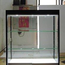 展示櫃 玻璃櫃 四面玻璃展示櫃.LED玻璃展示櫃.玻璃拉門展示櫃.玻璃推門展示櫃.層板可調@全一(LED白光) 公仔櫃