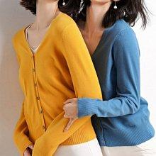 針織衫針織外套 韓系 秋裝新品糖果色系好質感小罩衫 艾爾莎  【TAE7764】