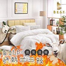 【現貨免運】發熱羊毛被 雙人2.5KG 台灣製 棉被 被子 被胎 BEST寢飾