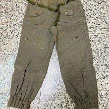 「二手良品」Gozo淺軍色造型七分褲