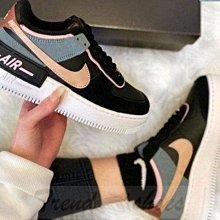 Nike Air Force 1 Shadow 復古 低幫 黑藍粉 馬卡龍 空軍 滑板鞋 CU5315-001 女鞋