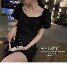 黑鑽石名媛小洋裝顯氣質黑科技肌理面料黑色綁帶小禮服連身裙【ME52415】