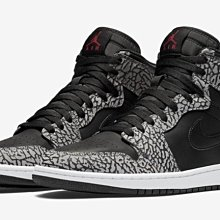 Nike Air Jordan 1 retro HIGH 839115-013 喬丹AJ-1 白黑灰爆裂紋 鞋舌紅跳跳人