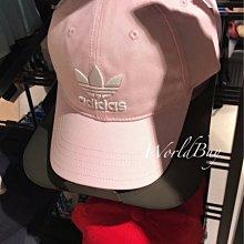 「i」【現貨】Adidas Originals Trefoil 粉 三葉草 男女可調節 電繡 帽 老帽 DJ0882