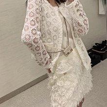 美過頭了🍓香奈兒 Chanel 鏤空開襟衫 外套 好漂釀的蕾絲鏤空 做個精緻女孩吧😊