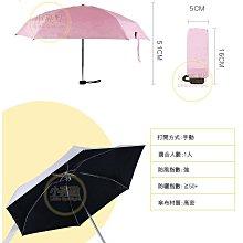 【小亮點】超迷你口袋傘 膠囊傘 防曬袖珍傘 5折傘 馬卡龍晴雨兩用傘 抗UV黑膠雨傘 陽傘 現貨【DS007】