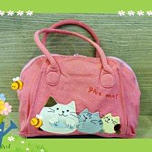 🏆【日本CARA卡拉貓】🏆卡拉貓精緻手提包純棉材質