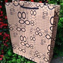 中號69牛皮紙袋 每個6.4元 滿1000免運 精美紙袋 購物袋 服飾袋 手提袋28*10*33cm每包50個320元
