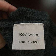 Pierre Balmain 百分百羊毛100%男裝毛衣M號鐵灰色
