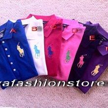 【Polo Ralph Lauren】大女童美麗繡數字3大馬POLO衫(S-L號)/共七色~現貨在台~