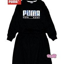 降↓佑兒館PUMA童裝『20年秋冬裝』基本Alpha連身裙(黑,女生)116,128,140,164,176公分