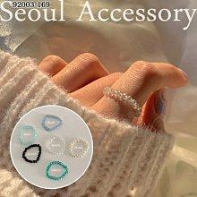 首爾飾集 正韓國製 官網款 糖果色串珠彈性戒指92003-169