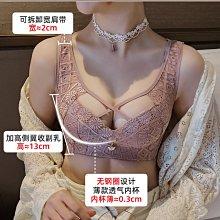 胸罩卉巖大胸顯小內衣女性感美背無鋼圈收副乳調整型文胸聚攏大碼胸罩