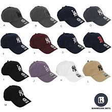 47brand clean up 紐約 洋基 老虎 紅襪 NY LA 水洗 老帽 棒球帽 鴨舌帽 多色【高冠國際】