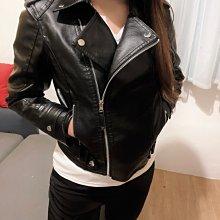 韓式短版修身皮衣外套 外套女