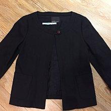 九成新/日系品牌clear impression:黑色硬挺棉質外套(size:)