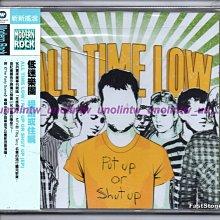 599免運CD~ALL TIME LOW低迷樂團【PUT UP OR SHUT UP提議或住嘴】美國英語專輯全新免競標