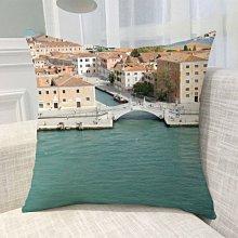 《獨家預購》水城威尼斯抱枕訂做家用抱枕 沙發靠墊禮品抱枕 歐式抱枕靠墊含芯威尼斯 可來圖訂做 生日禮物bz0496
